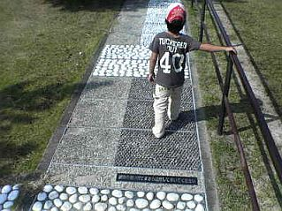 Reflexology Paths using pebbles
