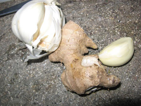 Garlic and Ginger for Cough