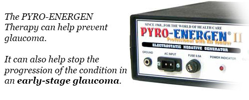Preventing and treating glaucoma with PYRO-ENERGEN electrostatic therapy machine