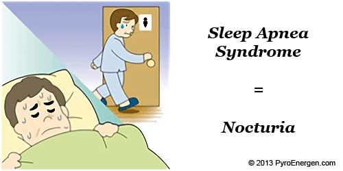 Sleep Apnea Syndrome can cause Nocturia